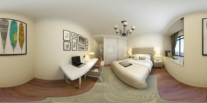 现代简约风格温馨卧室3D装修效果图
