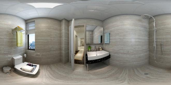现代风格精致卫生间3D效果图