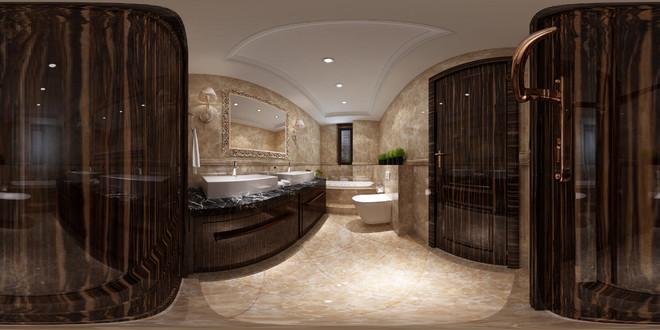 中式风格精致卫生间3D效果图鉴赏