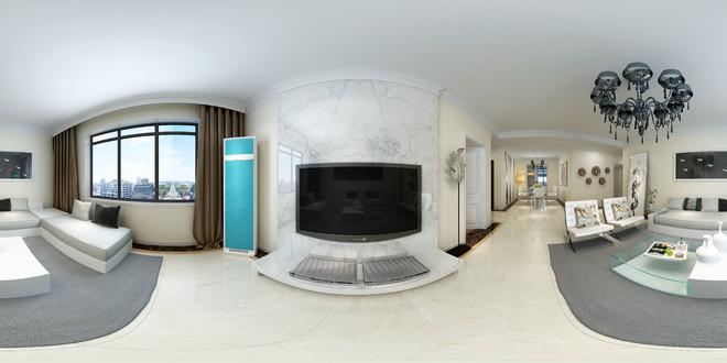 简约风格时尚客厅3D效果图