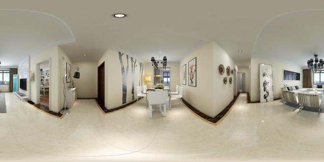简约风格精致餐厅3D效果图赏析