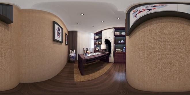 中式风格精美书房3D效果图欣赏