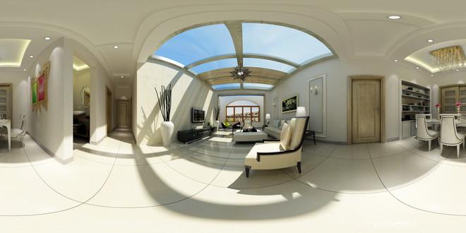 简欧风格温馨客厅3D效果图