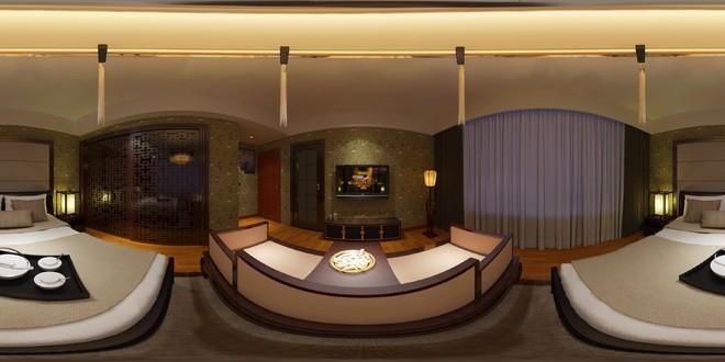 中式风格古典精致卧室3D效果图