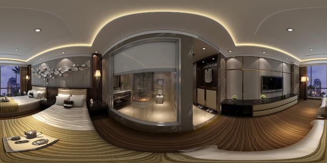 中式风格宾馆客房3D效果图赏析