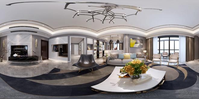 现代风格客厅3D效果图展示