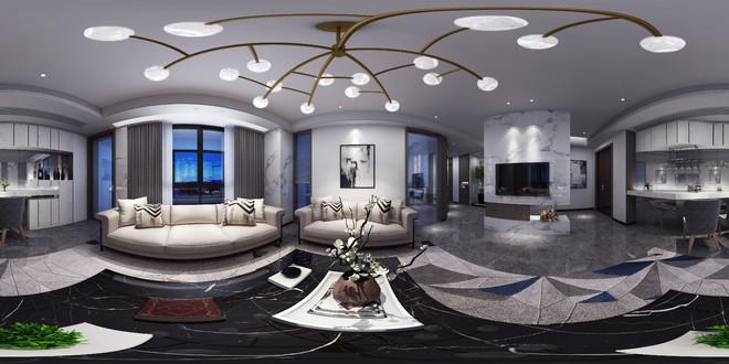 簡約風格客廳裝修全景圖