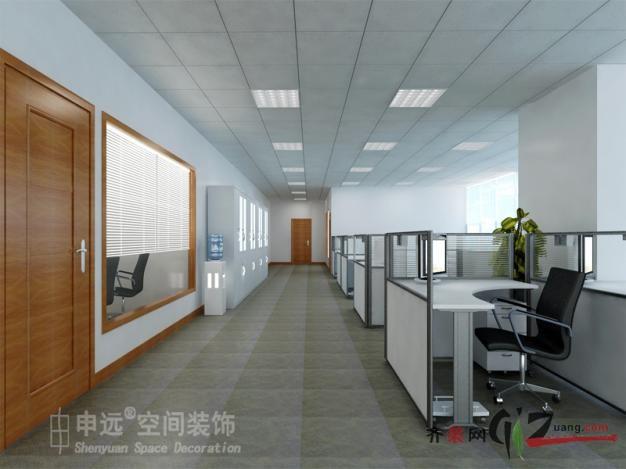 三菱电梯苏州公司办公室装修现代简约装修效果图2011
