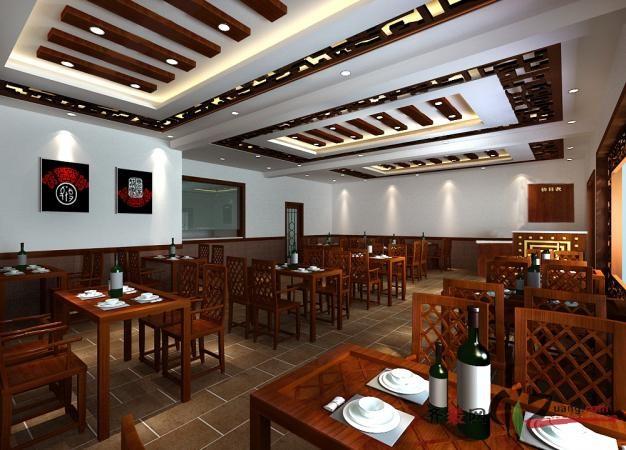 华天装饰设计越王记美食城餐厅装修中式风格装修效果