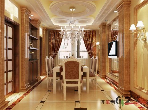 苏州龙发装饰金家坝私家别墅欧式风格装修效果图2011