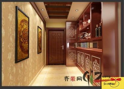 普通户型3室2厅1卫 房屋面积:100平米 装修类型:家装 设计风格:中式图片
