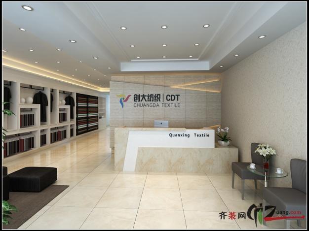 南京悅格裝飾鼎益盛紡織現代簡約裝修效果圖2011