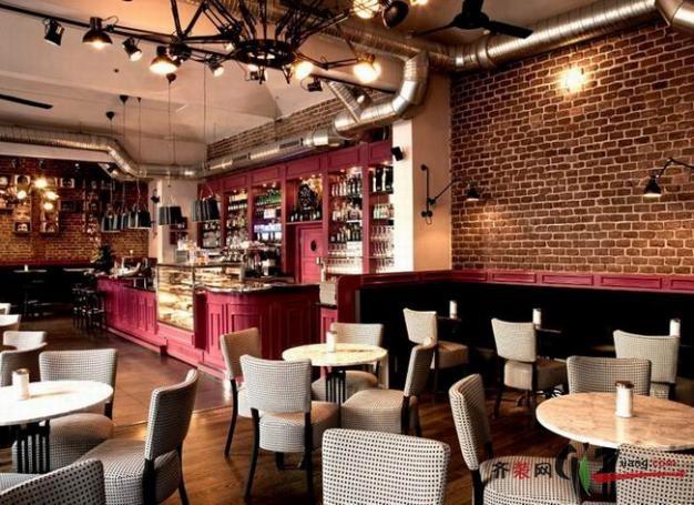 美式西餐厅装修效果图-咖啡吧示意图 布拉格个性咖啡馆 Cafe Cafe 设计高清图片