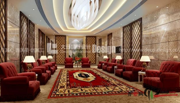 上海大珏国际设计金华酒店欧式风格装修效果图2010