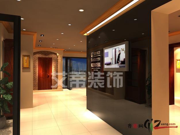 艾蒂装饰金丰木门张家港展厅现代简约装修效果图