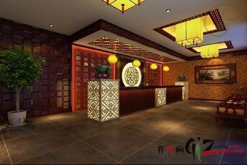 上海典杰装饰茶楼装饰古典风格装修效果图