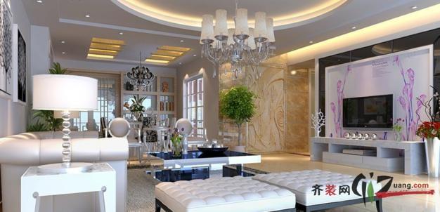 广州名匠装饰欧美风格现代简约装修效果图