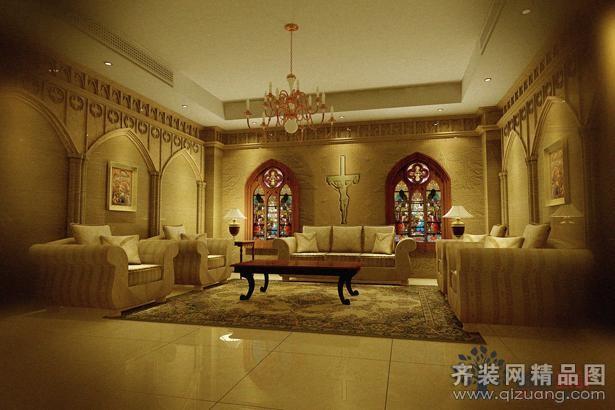 榕树易家江湾教堂欧式风格装修效果图