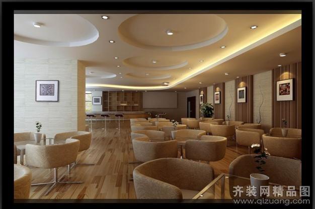 叶锦装饰咖啡馆现代简约装修效果图