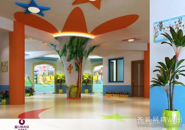 无锡欧堡装饰幼儿园混搭风格装修效果图2011