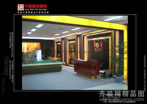 中朗御尚装饰杭州万都房交会展厅现代简约装修效果图
