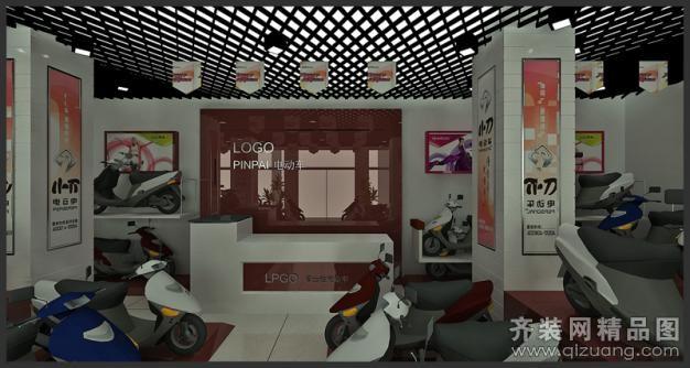 浩瀚裝飾富士達電動車旗艦店現代簡約裝修效果圖