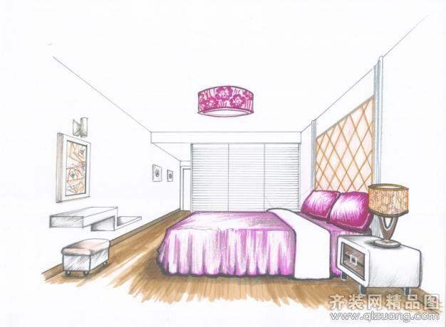 武汉丰信装饰银湖翡翠手绘图现代简约装修效果图2012