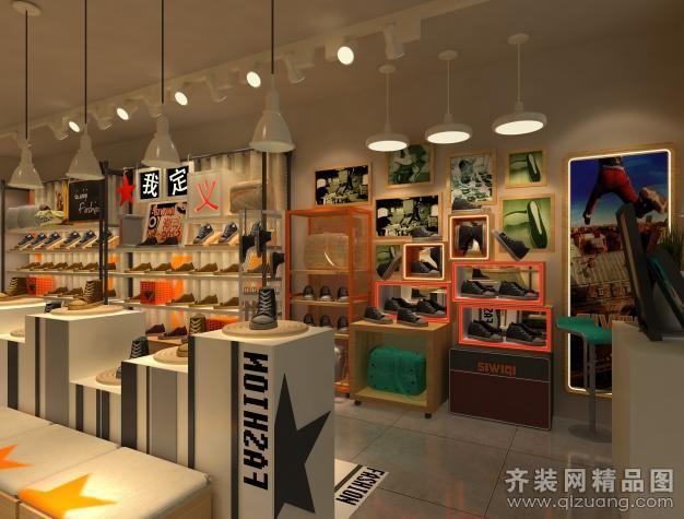 融通饰海建筑装饰鞋子专卖店现代简约装修效果图