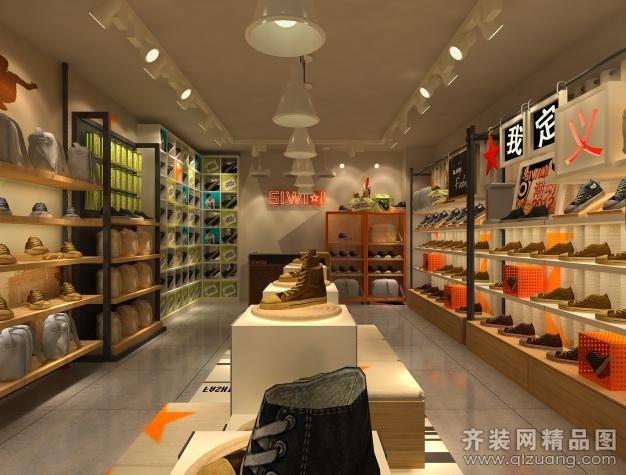 融通飾海建筑裝飾鞋子專賣店現代簡約裝修效果圖