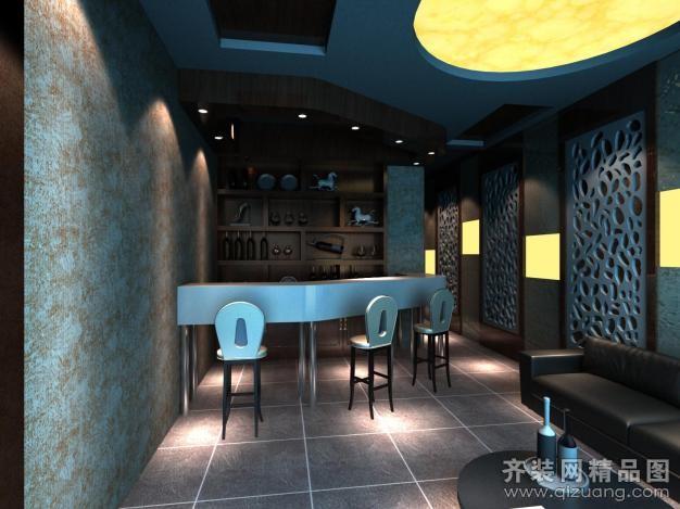 昆山悦巢装饰小酒吧现代简约装修效果图