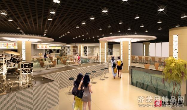 天津星艺装饰大港美食城现代简约装修效果图
