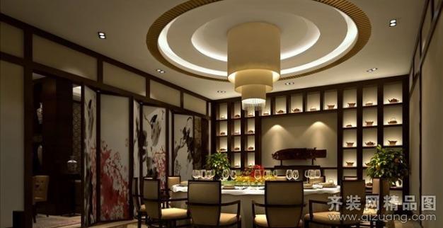 南京意柏年装饰餐厅贵宾大包厢中式风格装修效果图
