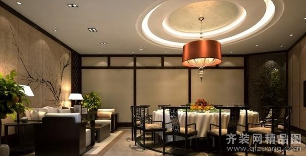 南京意柏年装饰餐厅贵宾大包厢中式风格装修效果图 包厢中