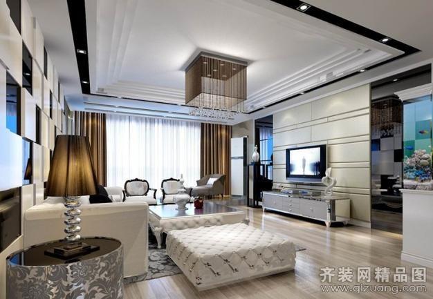南京意柏年装饰后奢华黑白灰客厅现代简约装修效果图
