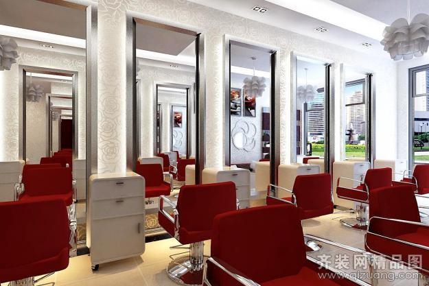 半岛人家装饰理发店现代简约装修效果图2013 高清图片