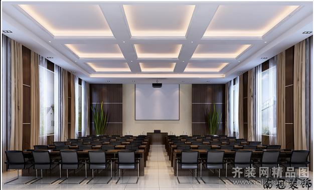 南冠装饰会议室现代简约装修效果图