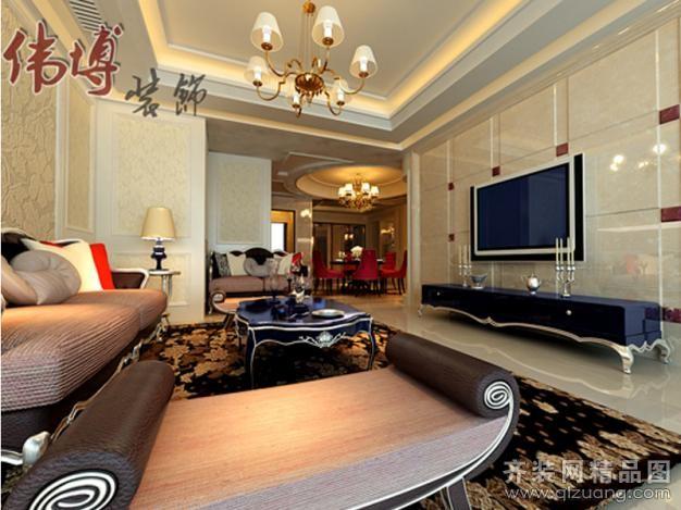 伟博装饰江南公寓欧式风格装修效果图