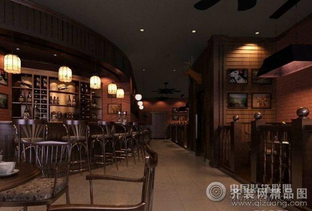 宿迁绿意装饰酒吧装修中式风格装修效果图