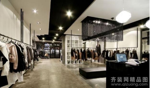 景泰装饰苏州分公司服装店现代简约装修效果图图片