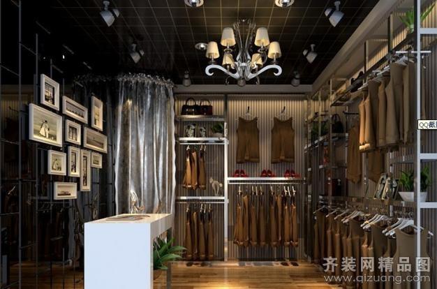 南京意柏年装饰时尚黑白配服装店现代简约装修效果图