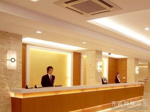 鑫之家装饰酒店大堂现代简约装修效果图
