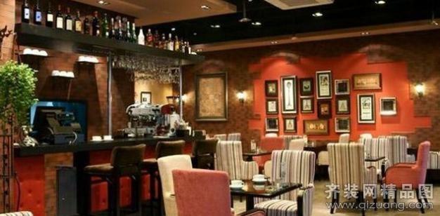 轻舟装饰咖啡厅欧式风格装修效果图2012