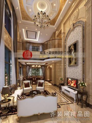 庭装饰设计工作室锦绣海湾城欧式风格装修效果图2012