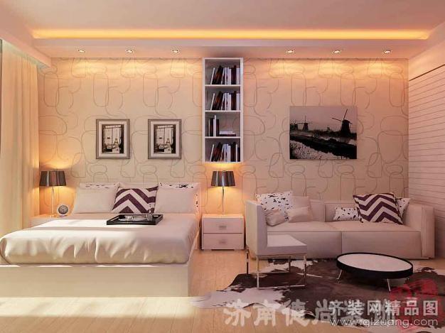 济南德尚装饰酒店式公寓现代简约装修效果图