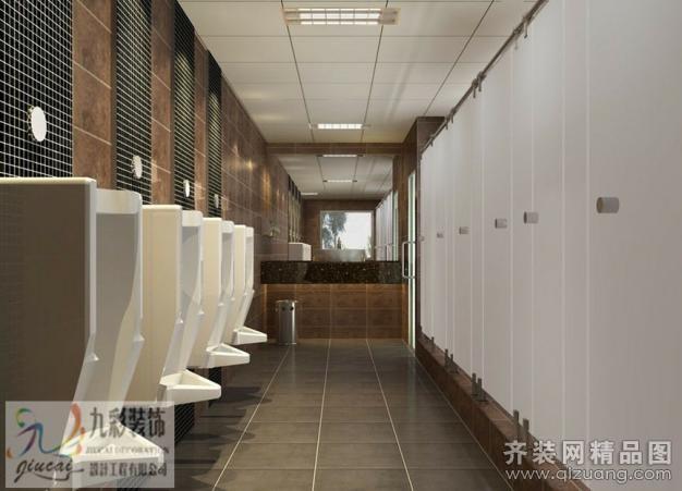 九彩装饰公共卫生间现代简约装修效果图