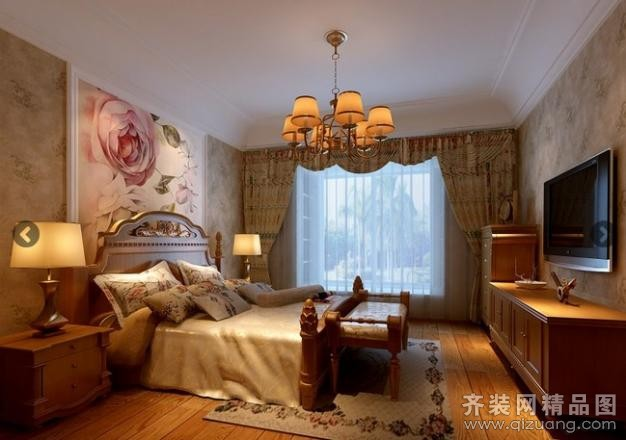 南通维景装饰自建房美式风格装修效果图图片