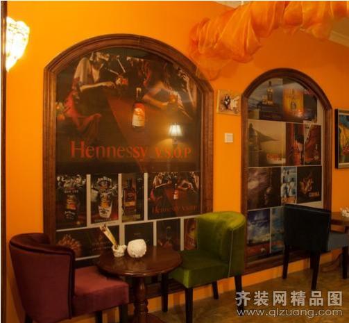 百思德装饰咖啡厅欧式风格装修效果图2011