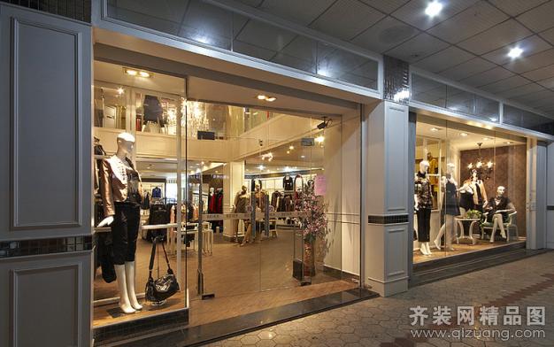 现代简约品牌女装专卖店设计装修装修效果图