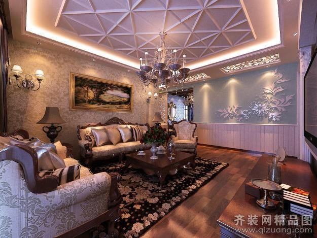 田园混搭欧式风格装修效果图 户型结构:普通户型3室2厅2卫 房屋面积图片