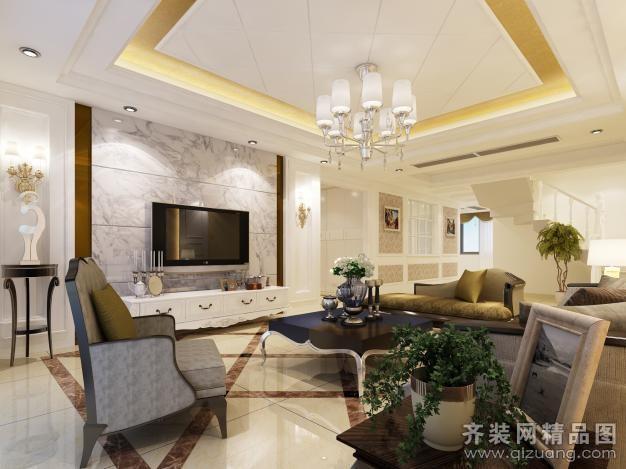复式户型4室3厅3卫 房屋面积:360平米 装修类型:家装 设计风格:欧式风图片